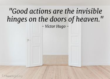 Illustration of the Bible Verse Quote by Victor Hugo