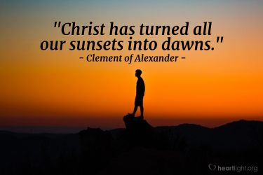 Illustration of the Bible Verse Quote by Clement of Alexander