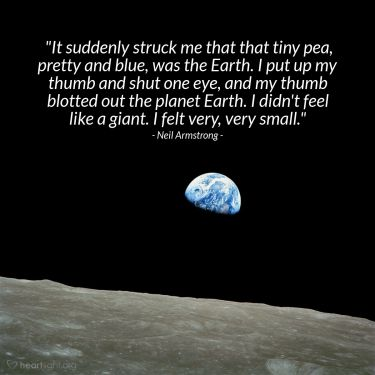 Illustration of the Bible Verse Quote by Neil Armstrong