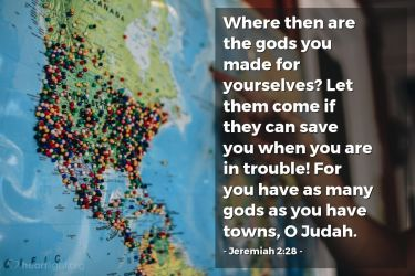 Illustration of the Bible Verse Jeremiah 2:28