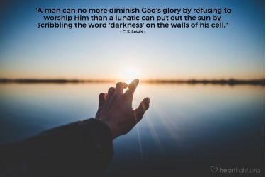 Illustration of the Bible Verse Quote by C. S. Lewis