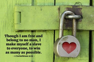 Illustration of the Bible Verse 1 Corinthians 9:19