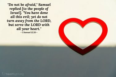 Illustration of the Bible Verse 1 Samuel 12:20