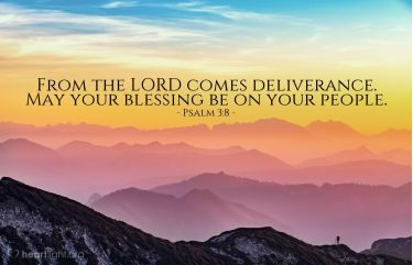 Illustration of the Bible Verse Psalm 3:8