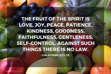 Illustration of the Bible Verse Galatians 5:22-23