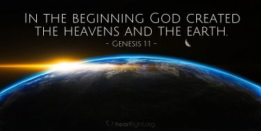 Illustration of the Bible Verse Genesis 1:1