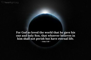 Illustration of the Bible Verse John 3:16