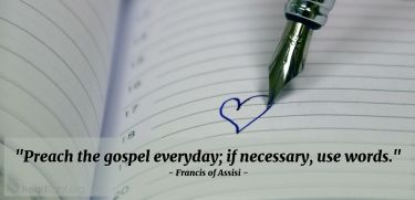Illustration of the Bible Verse Quote by Francis of Assisi