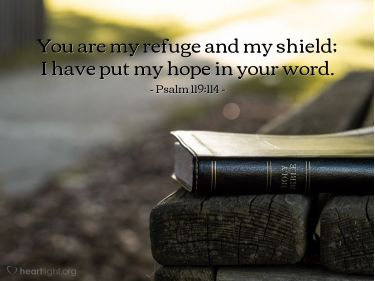Illustration of the Bible Verse Psalm 119:114