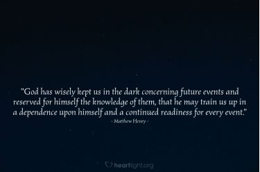 Illustration of the Bible Verse Quote by Matthew Henry