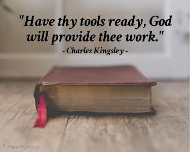 Illustration of the Bible Verse Quote by Charles Kingsley