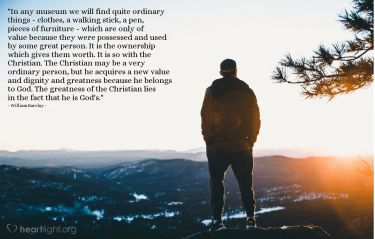 Illustration of the Bible Verse Quote by William Barclay