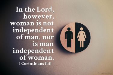 Illustration of the Bible Verse 1 Corinthians 11:11