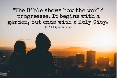 Illustration of the Bible Verse Quote by Phillips Brooks
