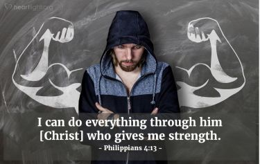 Illustration of the Bible Verse Philippians 4:13