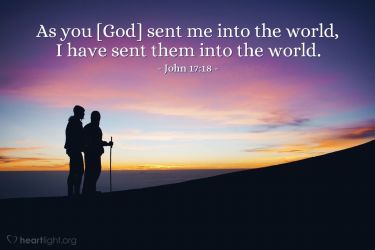 Illustration of the Bible Verse John 17:18