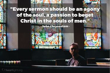 Illustration of the Bible Verse Quote by John Chrysostom