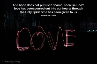 Illustration of the Bible Verse Romans 5:5 NIV
