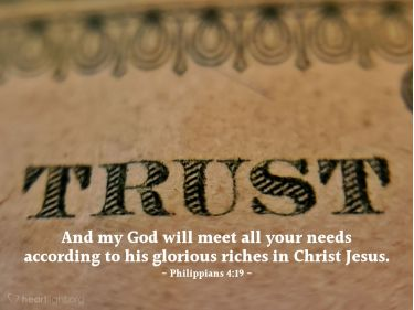 Illustration of the Bible Verse Philippians 4:19