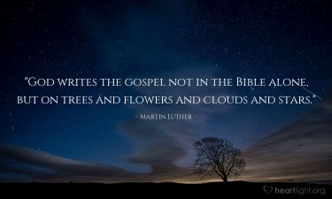 Illustration of the Bible Verse Quote by Martin Luther