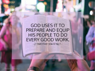 Illustration of the Bible Verse 2 Timothy 3:14-17 NLT