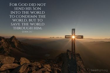 Illustration of the Bible Verse John 3:17