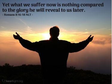 Illustration of the Bible Verse Romans 8:16-18 NLT