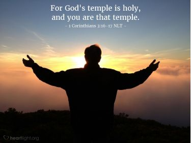 Illustration of the Bible Verse 1 Corinthians 3:16-17 NLT
