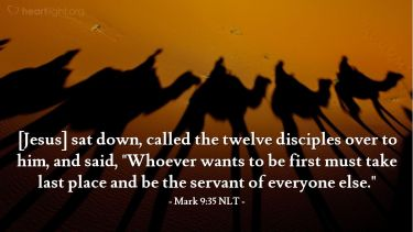 Illustration of the Bible Verse Mark 9:35 NLT