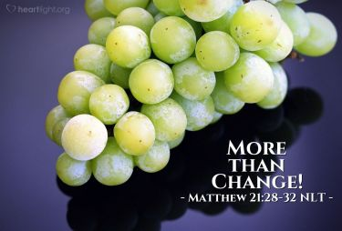 Illustration of the Bible Verse Matthew 21:28-32 NLT