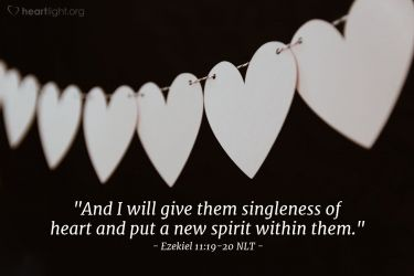 Illustration of the Bible Verse Ezekiel 11:19-20 NLT