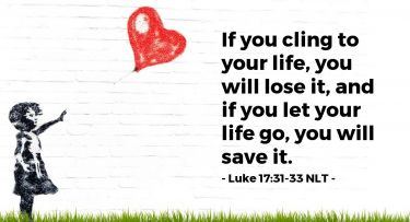 Illustration of the Bible Verse Luke 17:31-33 NLT