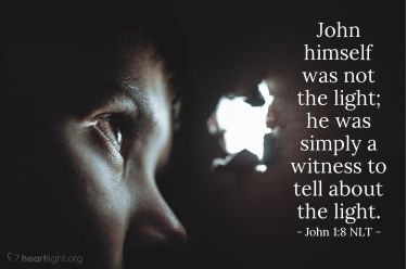 Illustration of the Bible Verse John 1:8 NLT