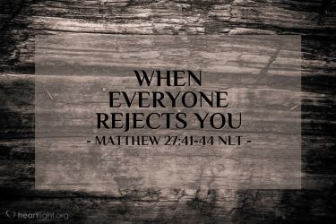 Illustration of the Bible Verse Matthew 27:41-44 NLT