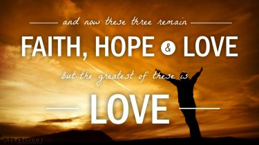 PowerPoint Background: 1 Corinthians 13:13 Praise at Sunrise