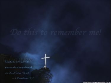 PowerPoint Background: 1 Corinthians 15:57 Communion