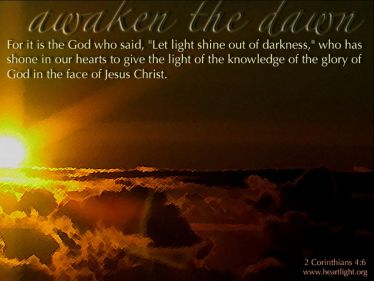 PowerPoint Background: 2 Corinthians 4:6 Awaken