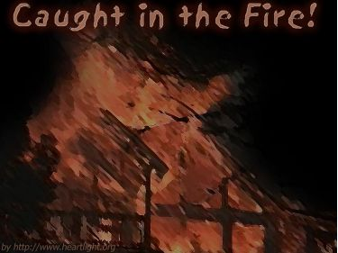 PowerPoint Background: Caught in the Fire - House
