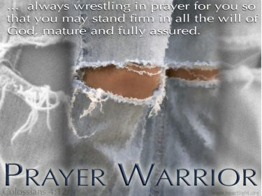 Illustration of the Bible Verse Colossians 4:12 Prayer Warrior