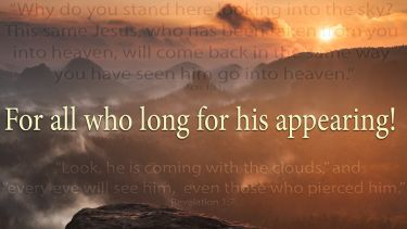Illustration of the Bible Verse Coming in the Clouds -