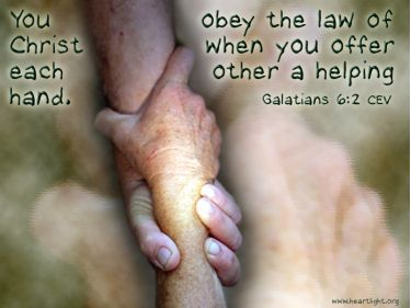 Illustration of the Bible Verse Galatians 6:2