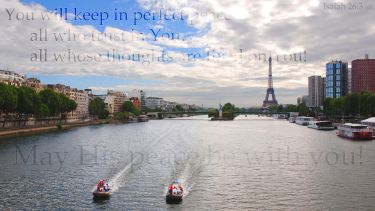 PowerPoint Background: Isaiah 26:3 Paris