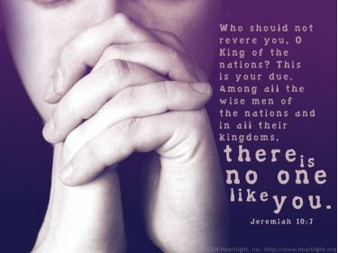 PowerPoint Background: Jeremiah 10:7 Plain