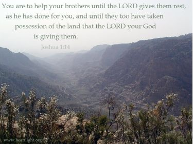 Illustration of the Bible Verse Joshua 1:14