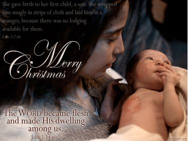 PowerPoint Background: Luke 2:7 Christmas