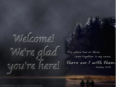 PowerPoint Background: Matthew 18:20 - Welcome