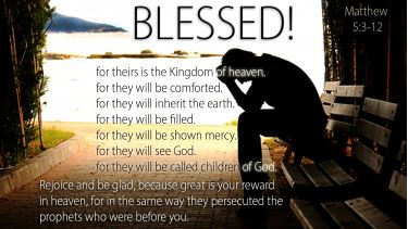 Illustration of the Bible Verse Matthew 5:3-12