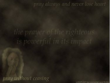 PowerPoint Background: Pray Without Ceasing