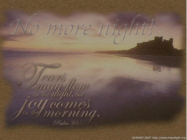 PowerPoint Background: Psalm 30:5 - Light