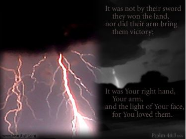 Illustration of the Bible Verse Psalm 44:3 Light
